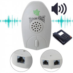 Amplificador de teléfono fijo con timbre muy fuerte para personas mayores