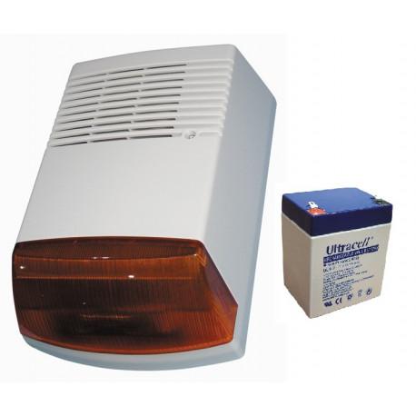 Sirena elettronica esterna autoalimentata 120db 12vcc sirena anti sabotaggio
