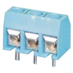 Un morsetto a vite per circuito stampato 3-pin