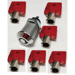 Serratura elettrica acceso spento 2 piastrine contatto 6 chiavi rotonde serrature accessori allarme cancelli automatici