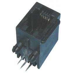 Embase modulaire rj09 4p4c femelle pour circuit imprimé 4 plots 4 contacts co4p4c