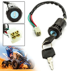Universal Switch Switch 2 Key 4 Pin Wire For Motorcycle ATV Go off Kart ATV Quad