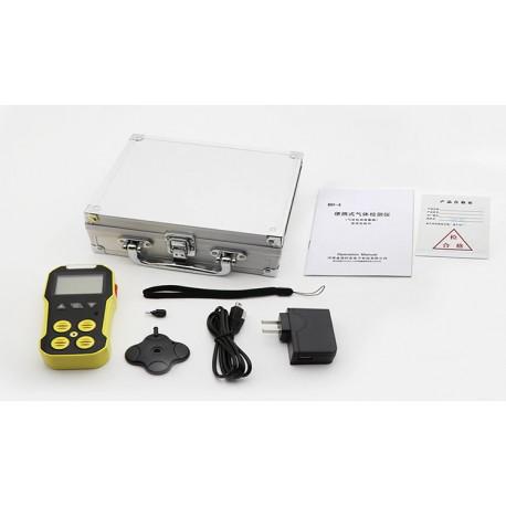Détecteur de gaz LCD 4 en 1 analyseur monoxyde de carbone EX/O2/H2S/CO