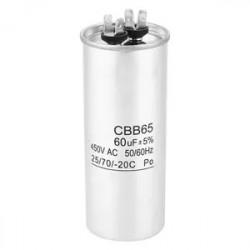 Condensador de arranque CBB65 55UF motor Compresor Aire acondicionado 450v refrigerador lavadora ventilador
