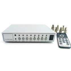 4ch color video quad processor splitter for cctv system