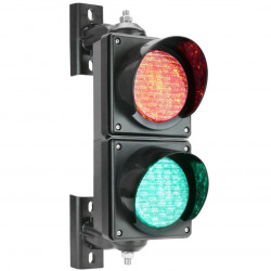 Traffic light for indoor and outdoor IP65 2 x 100mm 12-24V with orange-green and red LEDs