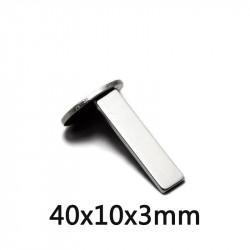 Permanent Magnet 40x10x3mm N35 Super powerful Neodymium cut-off led lighting fridge refrigerator