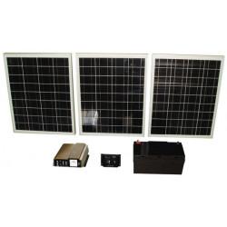 Pack 3x40w solar panel + battery pack + power converter 12v 220v 1000w 12220
