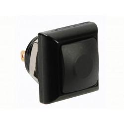 Quadratischer metalldrucktaster mit schwarzer kappe