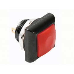 Mini square metal push button with red button