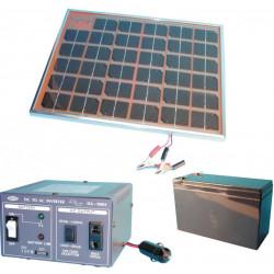 Pack 500ma solar panel + battery pack + power converter 12v 220v 100w 12220
