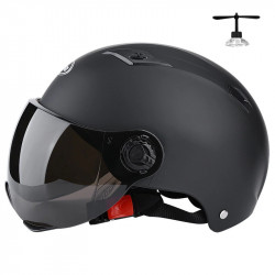53 bis 61 cm Erwachsene Elektrische Motorradhelme Halbhelm Roller Motor Crash Helmetor Moto Bike Sonnenschirm