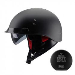 Caschi da motocicletta elettrica per adulti da 53 a 61 cm Casco mezzo casco da motociclista Casco da moto o da moto