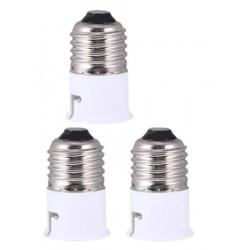 4 Adattatore convertitore presa e27 b22 ha portato lampadina 12v 24v 48v 220v presa di adattamento