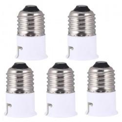 5 E27 to b22 adapter converter base holder socket for led light lamp bulbs 12v 24v 48v 220v lampholder conversion