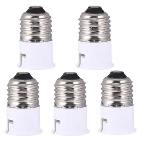 5 Adattatore convertitore presa e27 b22 ha portato lampadina 12v 24v 48v 220v presa di adattamento