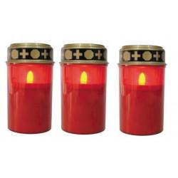 3 lampes cimetiere clgl veilleuse de neuvaine a led eclairage ampoule bougie a piles tombe