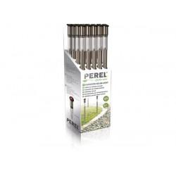 20 illuminazione lampada per la luce solare del giardino csol09d tube 70 centimetri palo base in acciaio inox