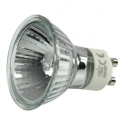 1 lampara electrica gu10 40w 220v lamp h0621hq foco iluminacion luz 230v 240v bombilla halogena