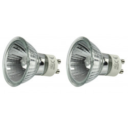 2 lampade halo e safe mr16 gu10 40w