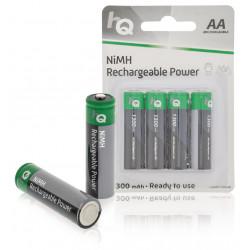 4 batteries rechargeables nimh aa 1.2v 1300 mah hq hq nimh aa 01 accu accumulateur