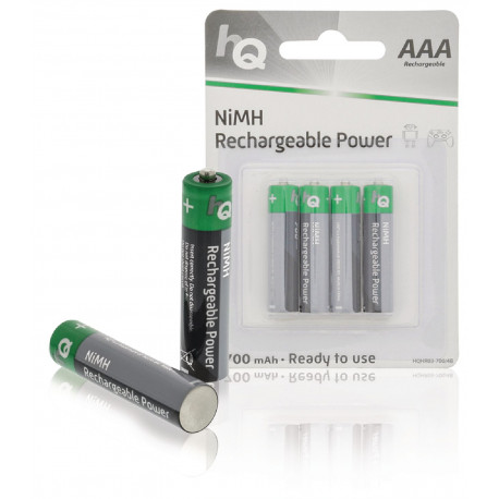 Batteries nimh aaa 700mah 1.2v rechargeables hq