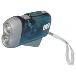 Lampe 2 led torche dynamo sans pile se charge en quelques pressions innovaley