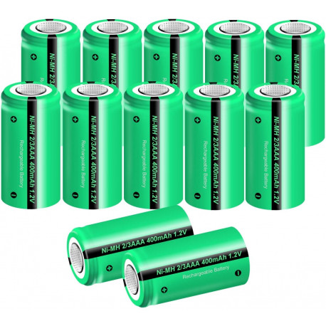 1,2 V 2 / 3AAA wiederaufladbare batterie 400 mah 2/3 AAA ni-mh nimh zelle mit tab pins für elektrorasierer rasierer