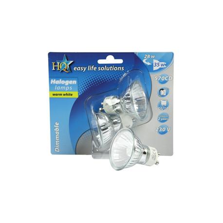 2 halogen bulbs gu10 28w (35w) 220v h gu10 02