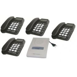 Telefonzentrale set 1 anschluss 4 terminals zubehor fur telefon telekommunikation
