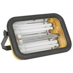 Projecteur de chantier 220v + 2 ampoules pl-l 18w 70w ewl12 eclairage lumiere spot
