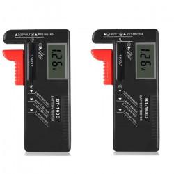 2 x Universal Digital Battery Capacity Tester BT-168D Checkered Charge Indicador de Bateria Test BT168D