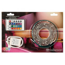 Kit with flexible led strip and controller rgb 60 leds 2m 12vdc