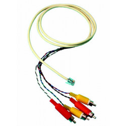Cable, 1 rj12 to 4 male rca, 0.5m cable wires cable wire cables, 1 rj12 to 4 male rca, 0.5m cable wires cable wire cables, 1 rj1