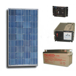 Solar panel pack 100w + rechargeable batterie + converter 600w 12vcc 220vac solar panels solar panel solar panel
