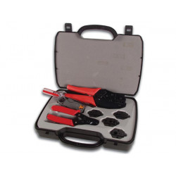 Kit complet pince coupante a sertir denudeur cable coaxial vtbncs rg55 rg58 rg59 rg6 rg62 rg8 rg122