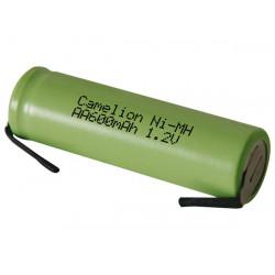 Ni mh batterie 1.2v 600mah mit lotfahnen