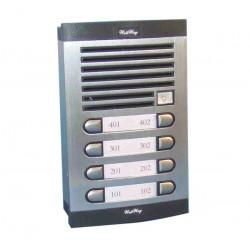 Interphone electronique de rue 8 boutons pour portier phonique immeuble