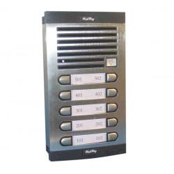 Interphone platine 10 boutons plaque de rue 10 bp pour immeuble collectif es 13as 10