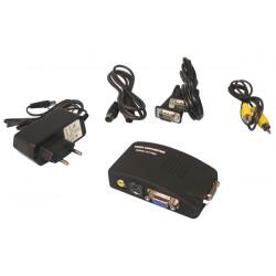 Convertidor señal video tv hacia señal vha transmetor cambia señales adaptador convertidor