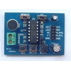 Module enregistrement vocal 10 sec 3v a 5v voix lecture avec micro pour montage circuit isd1820