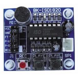 Module enregistrement 10sec vocal voix lecture avec micro et trous pour montage circuit isd1820
