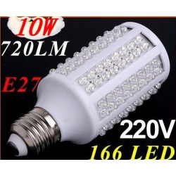 E27 10w 166led corn bulb lamp light 200 230v